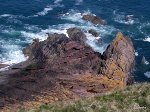 Siccar Point, Scotland - Geowalks Geology Walking Holidays